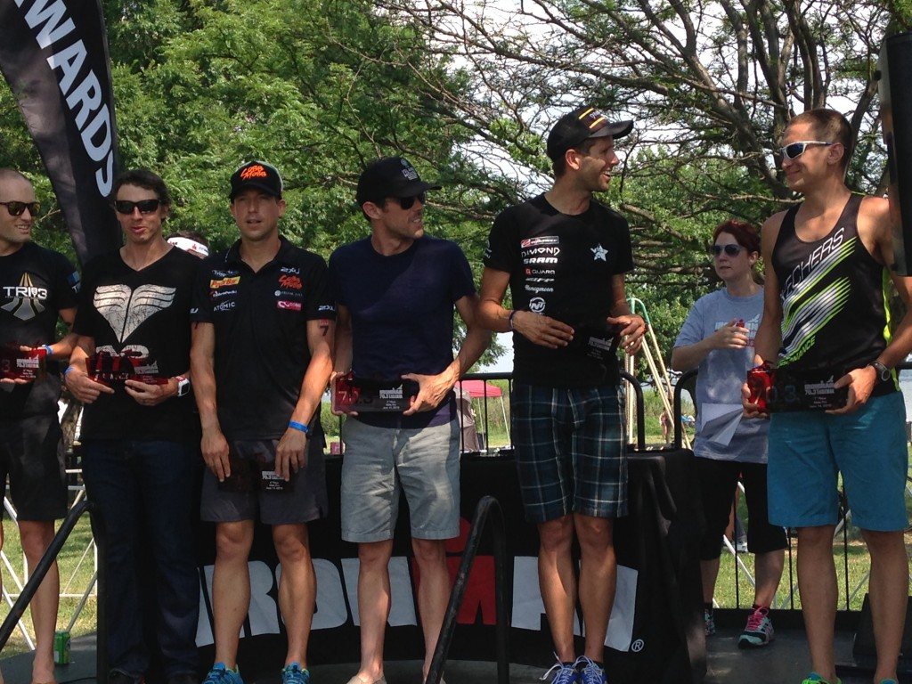 Eagleman 70.3 podium (Angie van Berkel)