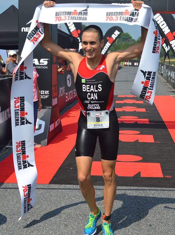 Eagleman 70.3 win (Chris Knauss)